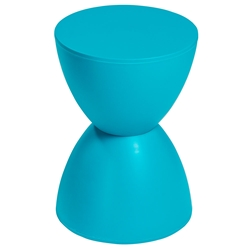 Sallie Modern Stool + Accent Table in Teal