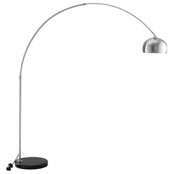 Salzburg Black Marble Base Arc Floor Lamp