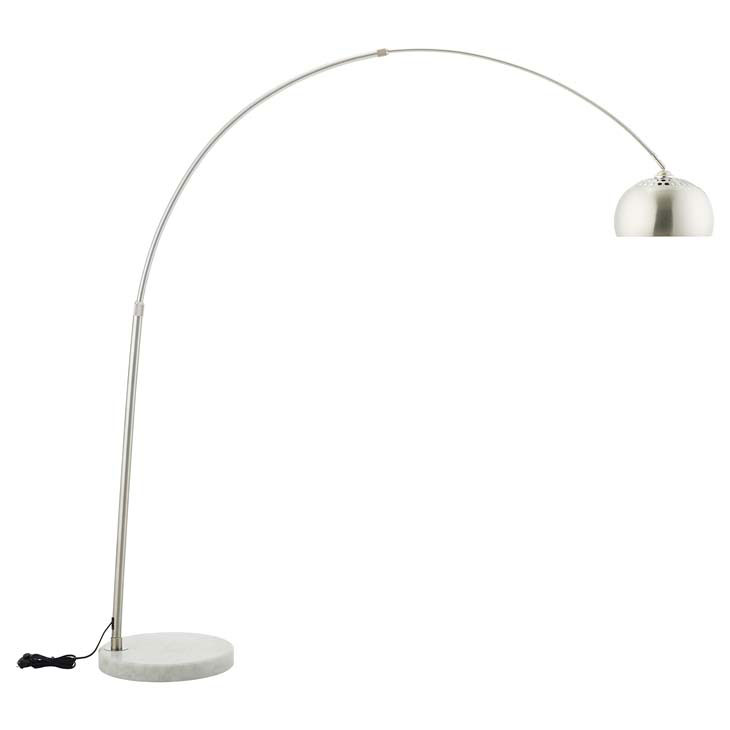 New modern lighting Lobby Salzburg White Marble Base Arc Floor Lamp Eurway New Modern Lighting Contemporary Lamps Eurway