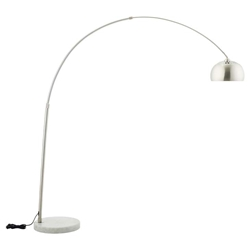 Salzburg White Marble Base Arc Floor Lamp