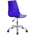 Salzburg Blue Acrylic Armless Task Chair