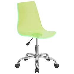 Salzburg Green Acrylic Armless Task Chair