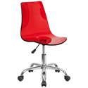 Salzburg Red Acrylic Armless Task Chair