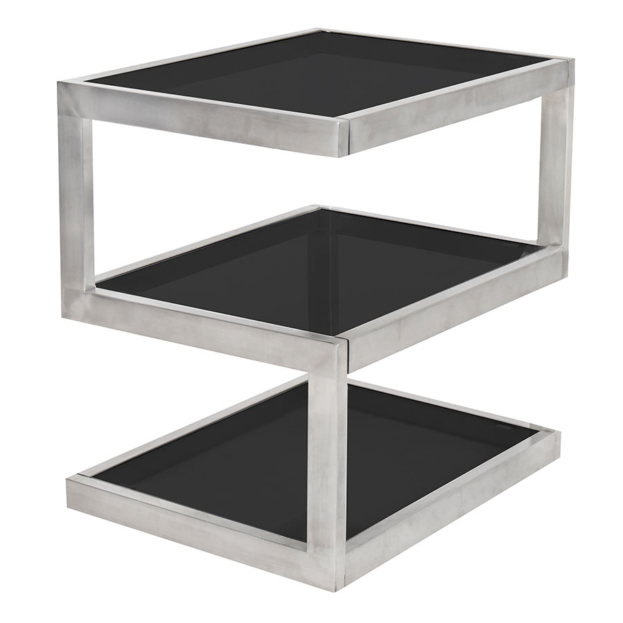 Sam Black Modern End Table