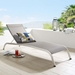 San Clemente Contemporary Gray Mesh Outdoor Chaise Lounge