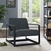 San Diego Contemporary Gray Lounge Chair
