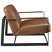 San Diego Modern Brown Lounge Chair - Side View