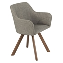 Sanders Modern Light Gray Arm Chair