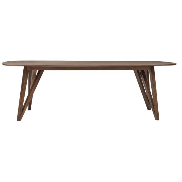 Sanders Contemporary Walnut Dining Table