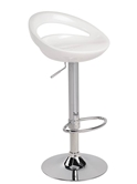 Sandra Modern Adjustable Stool in White