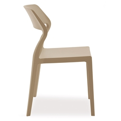 Sandy Taupe Modern Indoor Outdoor Side Chair by Pezzan