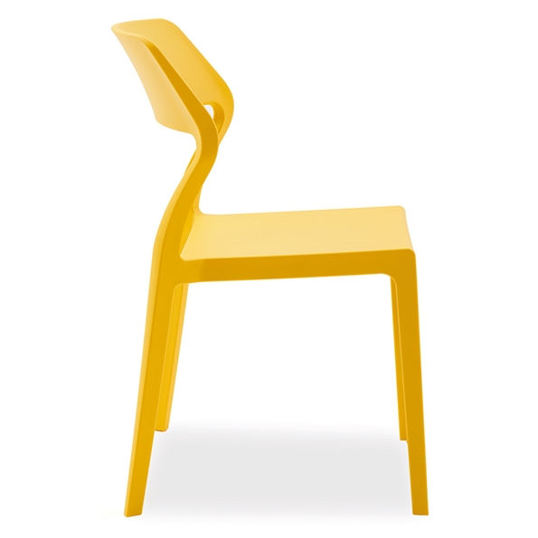 Sandy Yellow Modern Indoor Outdoor Side Chair by Pezzan