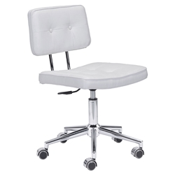 Santeri White Modern Office Chair