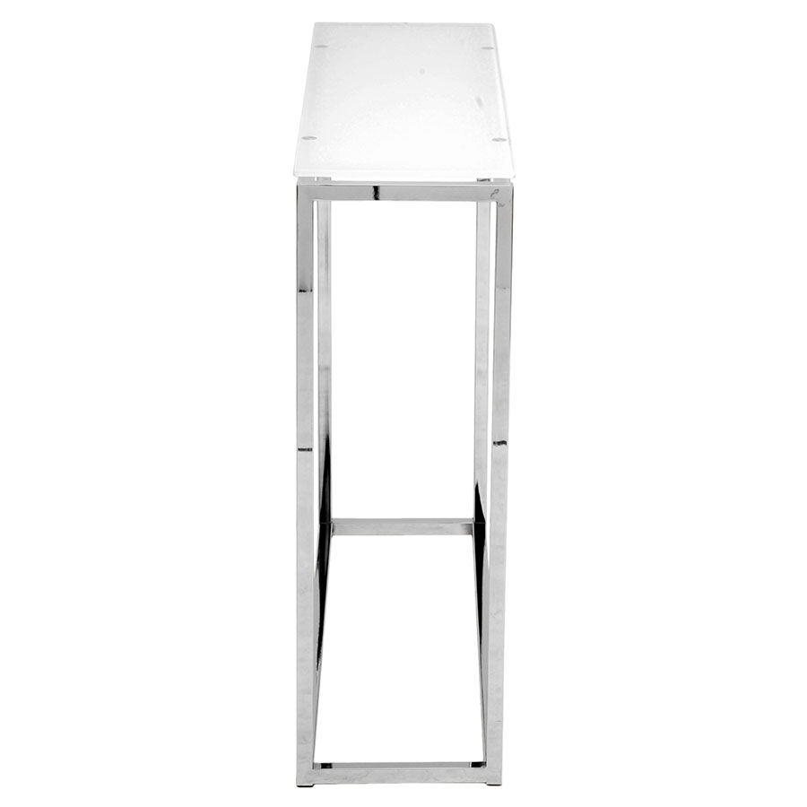 Sara Modern Console Table - White Glass