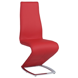 Sara Red Modern Dining Side Chair