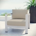 Sarasota Beige Contemporary Outdoor Arm Chair
