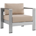 Sarasota Beige Modern Outdoor Arm Chair