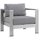 Sarasota Gray Modern Outdoor Arm Chair