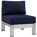 Sarasota Navy Blue Modern Outdoor Armless Chair