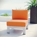 Sarasota Orange Contemporary Outdoor Armless Chair