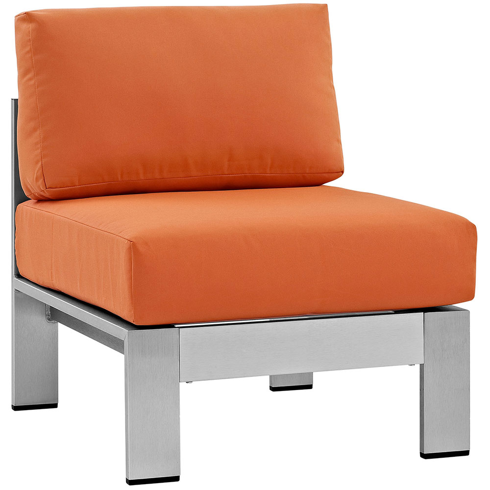 Sarasota Orange Modern Outdoor Armless Chair