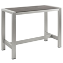 Sarasota Modern Outdoor Rectangular Bar Table