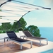 Sarasota Contemporary Black Mesh Outdoor Chaise Lounge