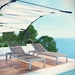 Sarasota Contemporary Gray Mesh Outdoor Chaise Lounge