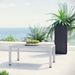 Sarasota Contemporary Outdoor Brushed Aluminum Cocktail Table