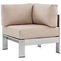 Sarasota Beige Modern Outdoor Corner Chair