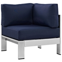 Sarasota Navy Blue Modern Outdoor Corner Chair