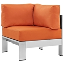 Sarasota Orange Modern Outdoor Corner Chair