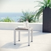 Sarasota Contemporary Outdoor Brushed Aluminum Side Table