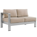 Sarasota Beige Modern Outdoor Left Arm Loveseat
