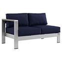 Sarasota Navy Modern Outdoor Left Arm Loveseat