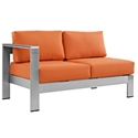 Sarasota Orange Modern Outdoor Left Arm Facing Loveseat