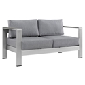 Sarasota Gray Modern Outdoor Loveseat