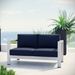 Sarasota Navy Contemporary Outdoor Loveseat