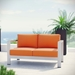 Sarasota Orange Contemporary Outdoor Loveseat