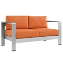 Sarasota Orange Modern Outdoor Loveseat
