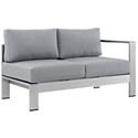 Sarasota Gray Modern Outdoor Right Arm Loveseat