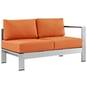 Sarasota Orange Modern Outdoor Right Arm Loveseat