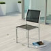 Sarasota Contemporary Outdoor Black Mesh Side Chair
