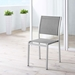 Sarasota Contemporary Outdoor Gray Mesh Side Chair