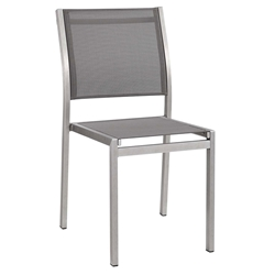 Sarasota Modern Outdoor Gray Mesh Side Chair