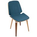 Satchel Blue Modern Side Chair