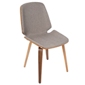 Satchel Gray Modern Side Chair