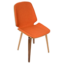 Satchel Orange Modern Chair