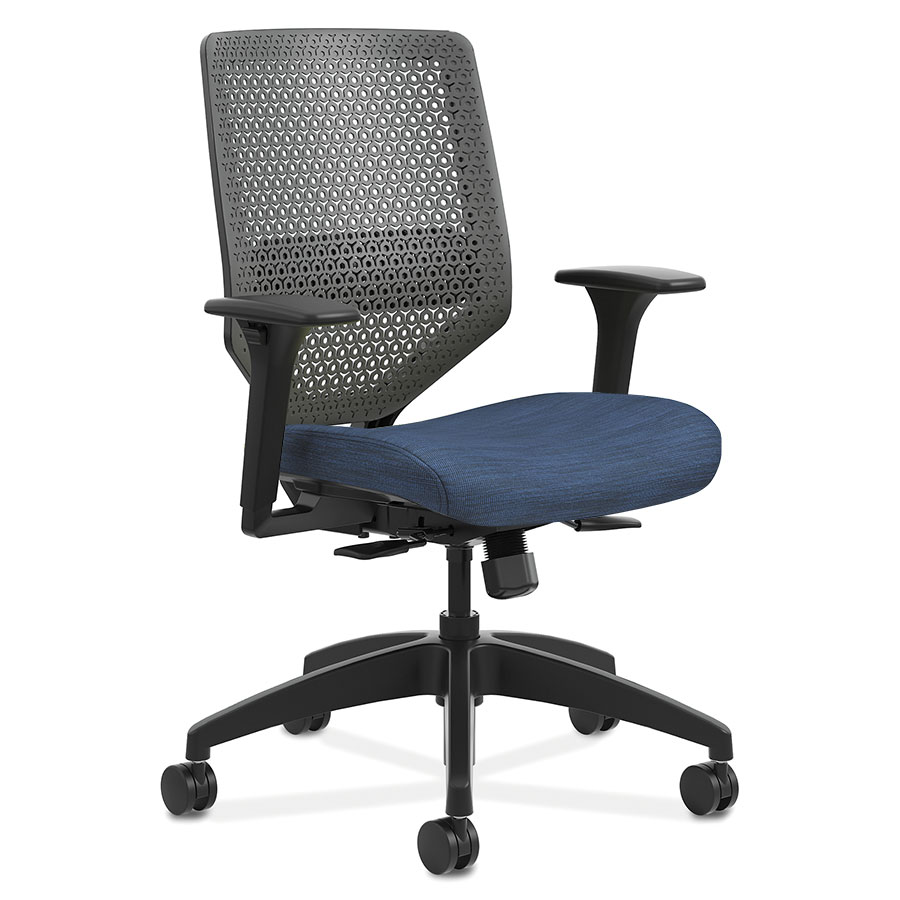 Saturn Modern Flex Back Office Chair in Blue