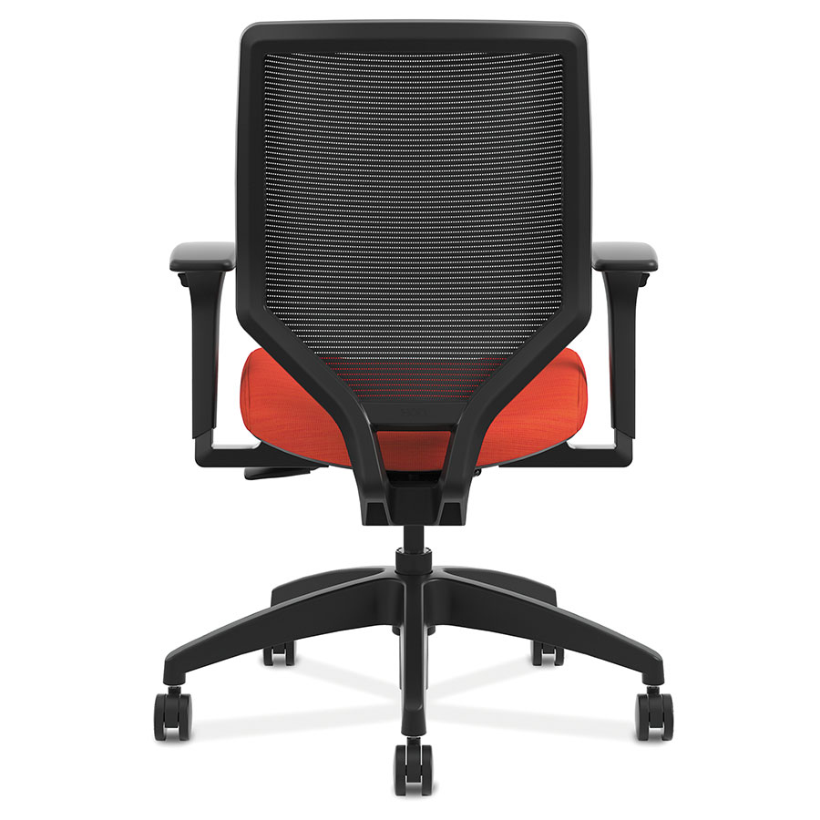 ... Saturn Modern Orange Mesh Back Office Chair   Back View ...